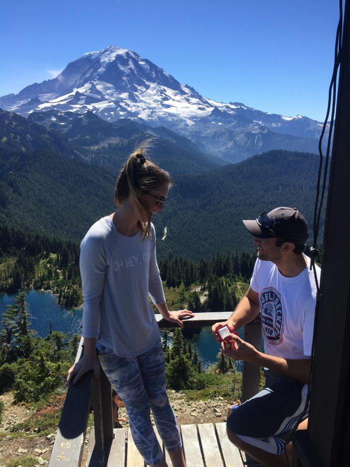 Zoie and Nick's Engagement in Tolmie Peak -Mt. Rainier National Park