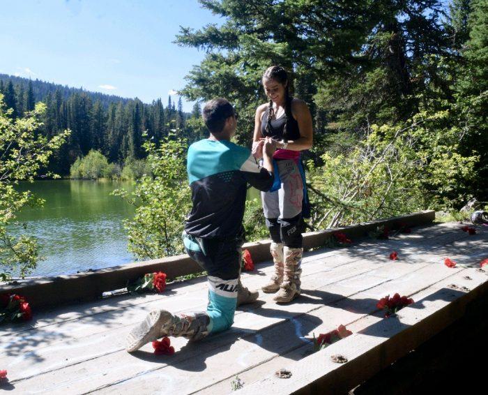 Tess's Proposal in Bear Canyon Lake