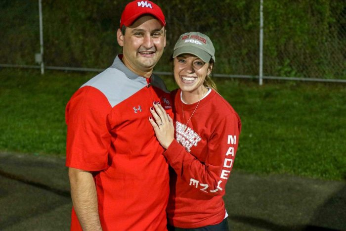 Madeline's Proposal in West Middlesex High School after our Alma Mater's Homecoming Gam