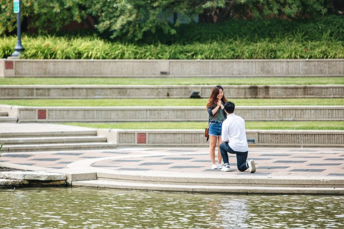 Engagement Proposal Ideas in Town Square of Schaumburg