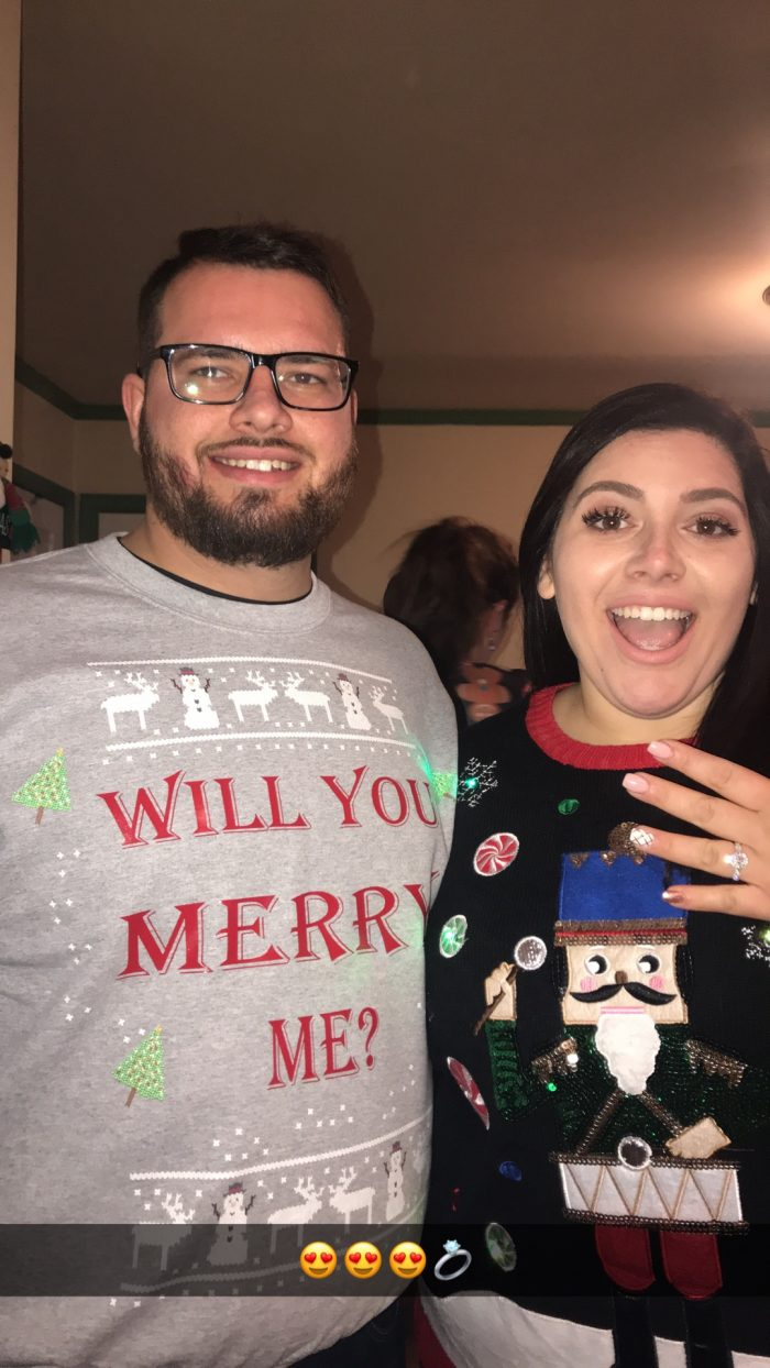 Veronica's Proposal in The brides house during a Christmas cookie baking party