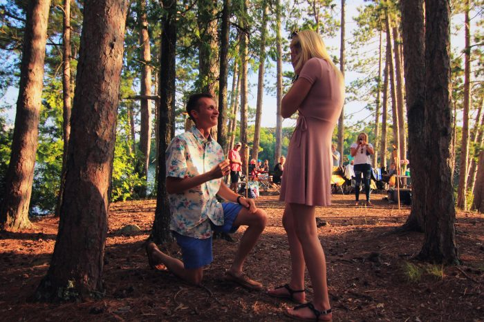 Hannah and Corey's Engagement in Lake Tomahawk, Wisconsin
