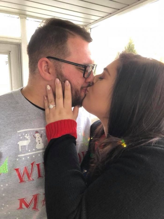 Proposal Ideas The brides house during a Christmas cookie baking party