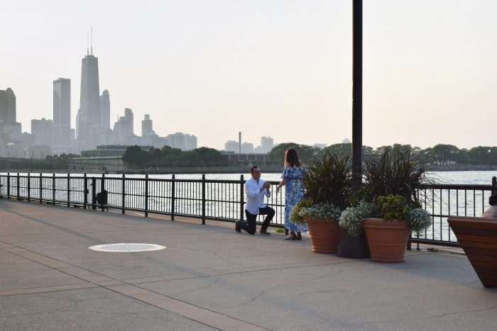 Rachel and JD's Engagement in Navy Pier in Chicago, Illinois