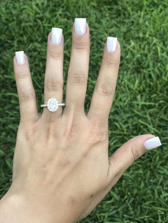 Where to Propose in In his parents backyard