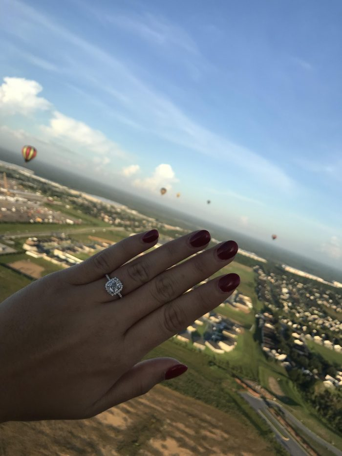 Marriage Proposal Ideas in Hot air balloon