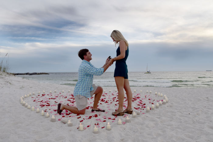 Wedding Proposal Ideas in St. Andrews State Park