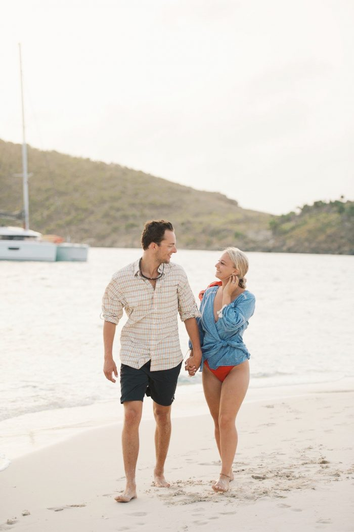 Abby's Proposal in Sandy Spit, British Virgin Islands