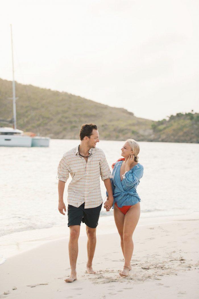 Abby's Proposal in Sandy Spit, British Virgin Islands