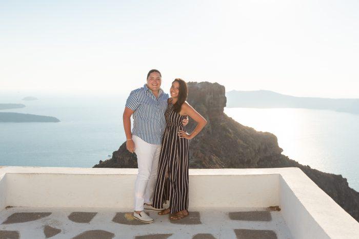 Juliana's Proposal in Santorini, Greece