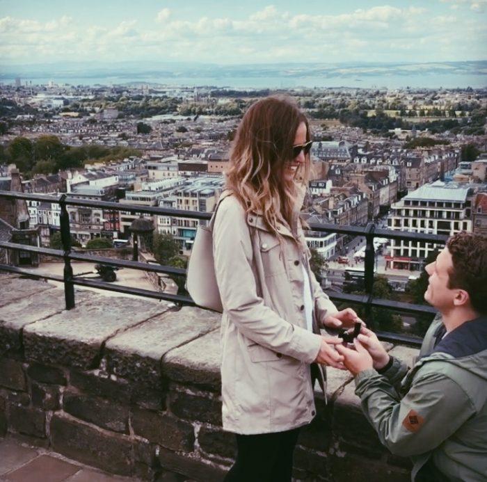 Marriage Proposal Ideas in Edinburgh Castle, United Kingdom