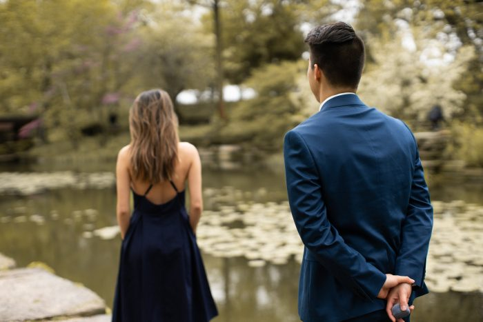 Where to Propose in Alfred Caldwell Lily Pool in Chicago, IL