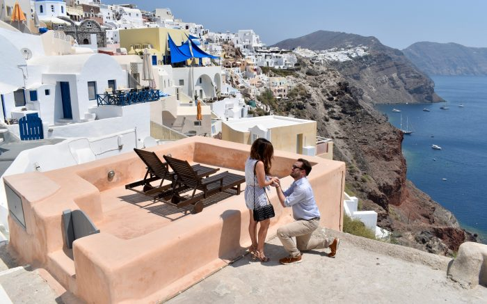 Wedding Proposal Ideas in Santorini, Greece
