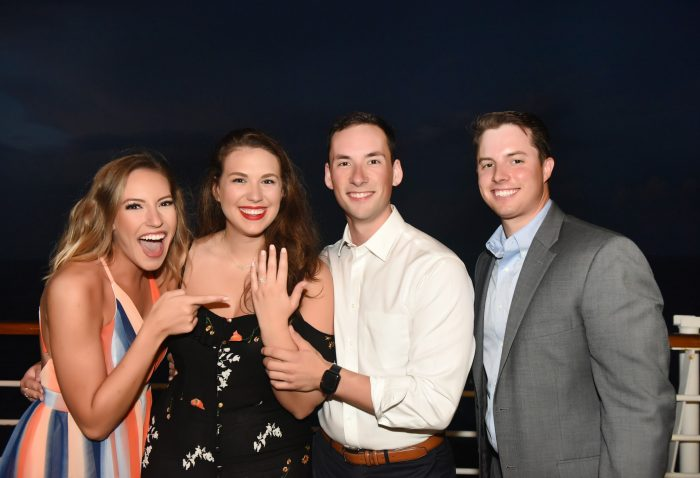 Sarah and Tyler's Engagement in On a Carnival Cruise in the middle of the Caribbean