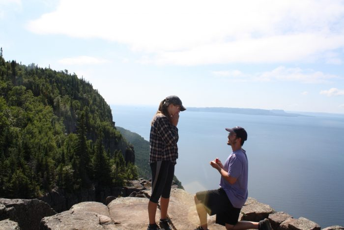 Savannah and Jedediah's Engagement in Sleeping Giant Provincial Park: Ontario, Canada
