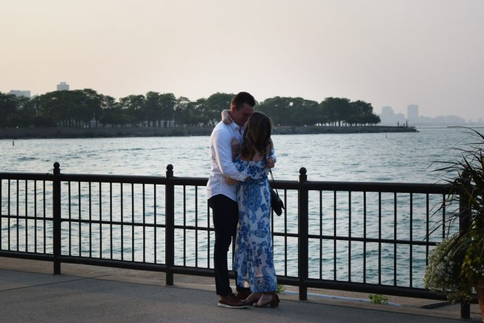 Rachel's Proposal in Navy Pier in Chicago, Illinois