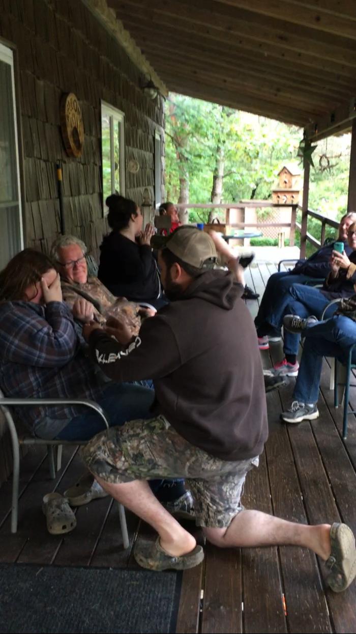 Kate's Proposal in Family cabin in NY