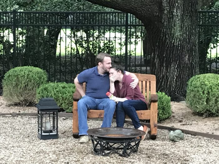 Where to Propose in Jared and I are incredibly close to our families, so it was perfectly fitting that he surprised me with the most intimate proposal in my parents' backyard.