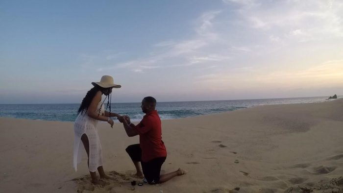 Where to Propose in Cabo on the beach