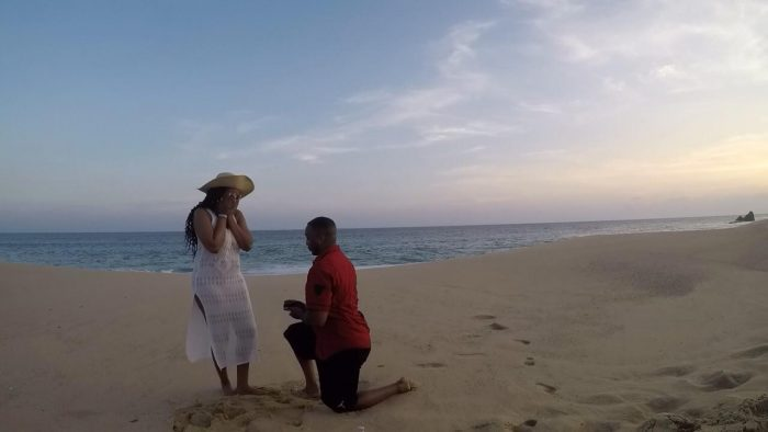 Ashley and Joseph's Engagement in Cabo on the beach