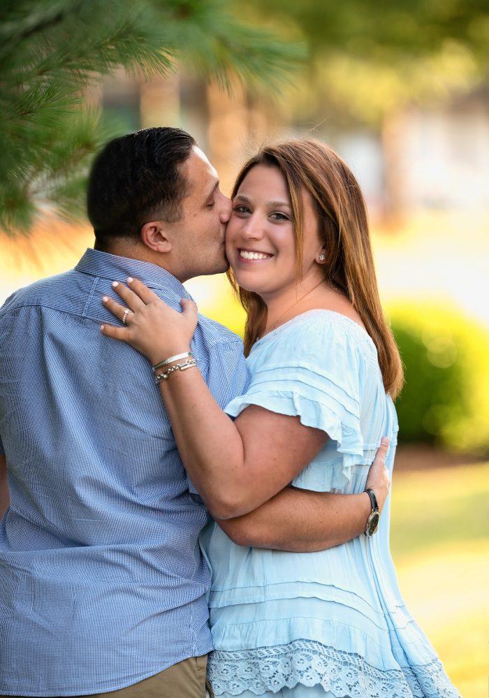 Allison and Corbin's Engagement in 9/11 Memorial in Marlboro, New Jersey