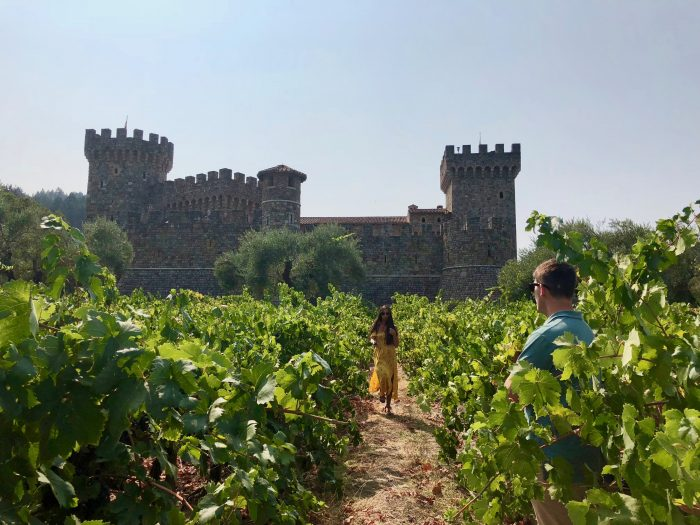 Shawnee C and Bret T's Engagement in Castello di Amorosa