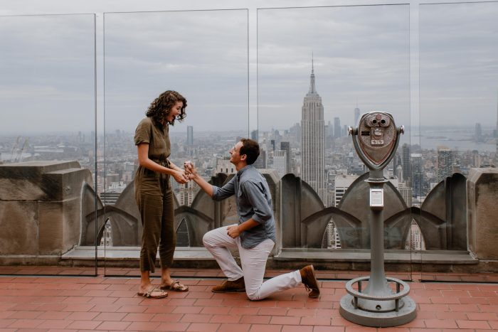 Engagement Proposal Ideas in Top of the Rock NYC