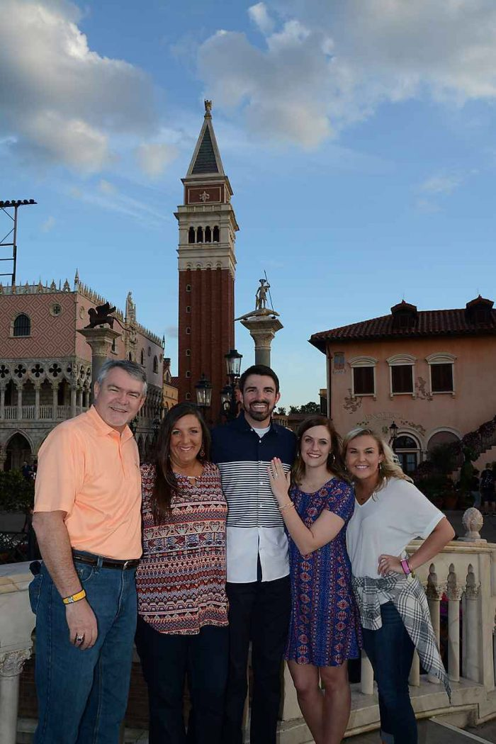 Amber and Dalton's Engagement in Italy in Epcot- Disney World