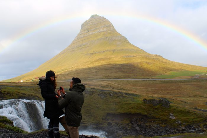 Wedding Proposal Ideas in Kirkjufell mountain, Iceland