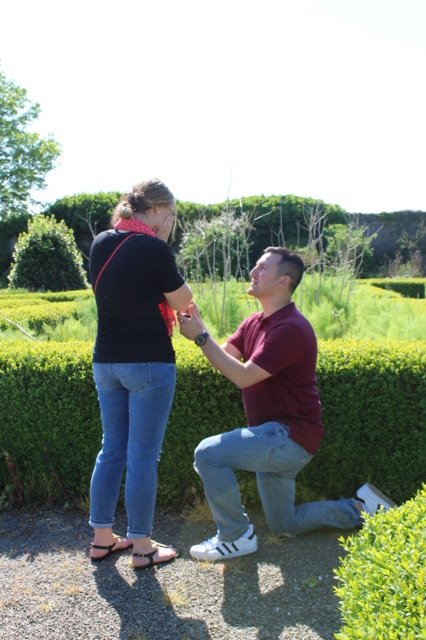 Wedding Proposal Ideas in Knappogue Castle in Ireland