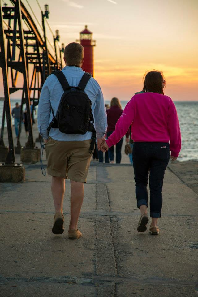 Marriage Proposal Ideas in Charlevoix South Pier, Charlevoix, MI