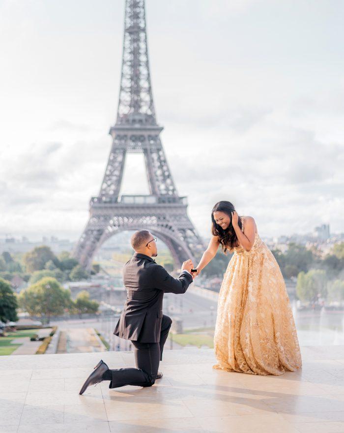 Engagement Proposal Ideas in The Trocadéro, Paris France