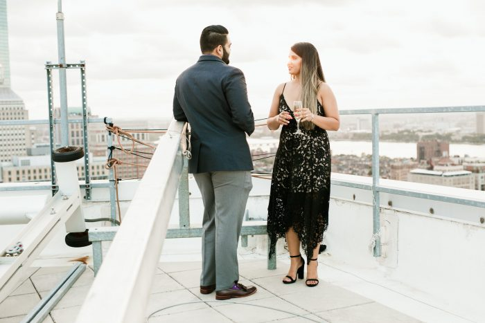 Vrunda's Proposal in W Hotel Boston- Rooftop