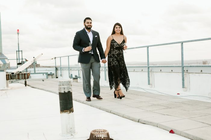 Marriage Proposal Ideas in W Hotel Boston- Rooftop