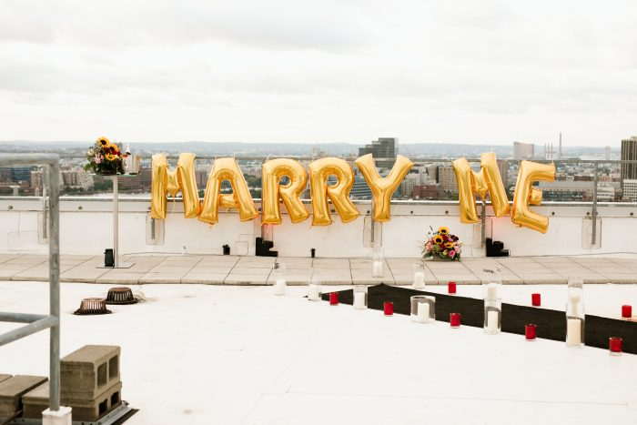 Vrunda and Sunny's Engagement in W Hotel Boston- Rooftop