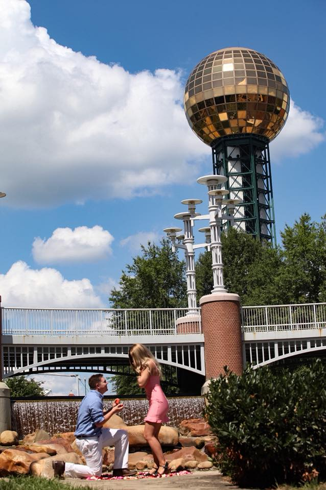 Where to Propose in World's Fair Park, Knoxville, TN.