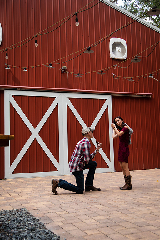 Where to Propose in Shabby Chic Wedding Barn, Brooksville, FL