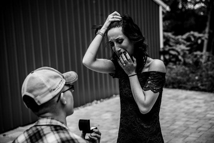 Engagement Proposal Ideas in Shabby Chic Wedding Barn, Brooksville, FL
