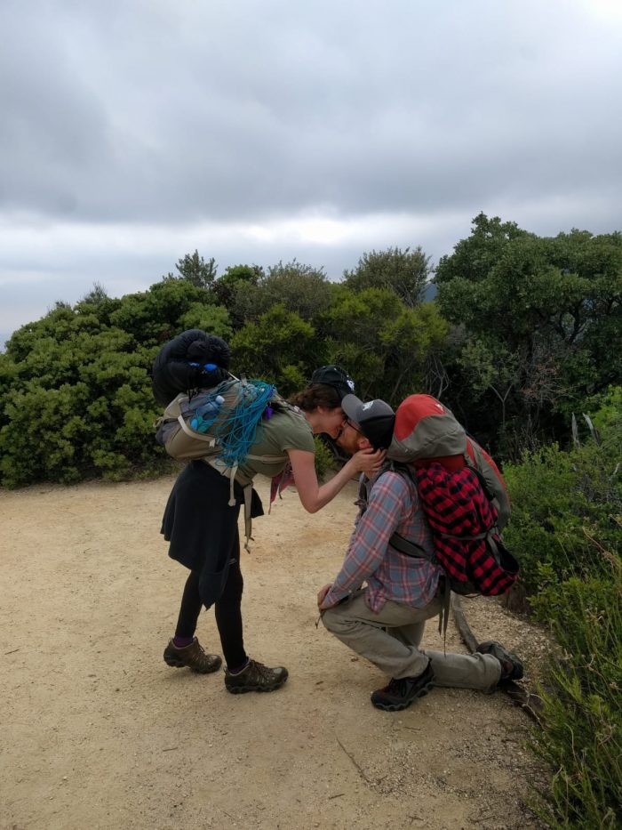 Where to Propose in At the peak of Mt Zion in the Los Angeles forest