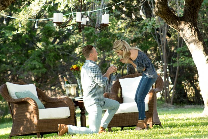 Where to Propose in In his parents backyard...where we met!