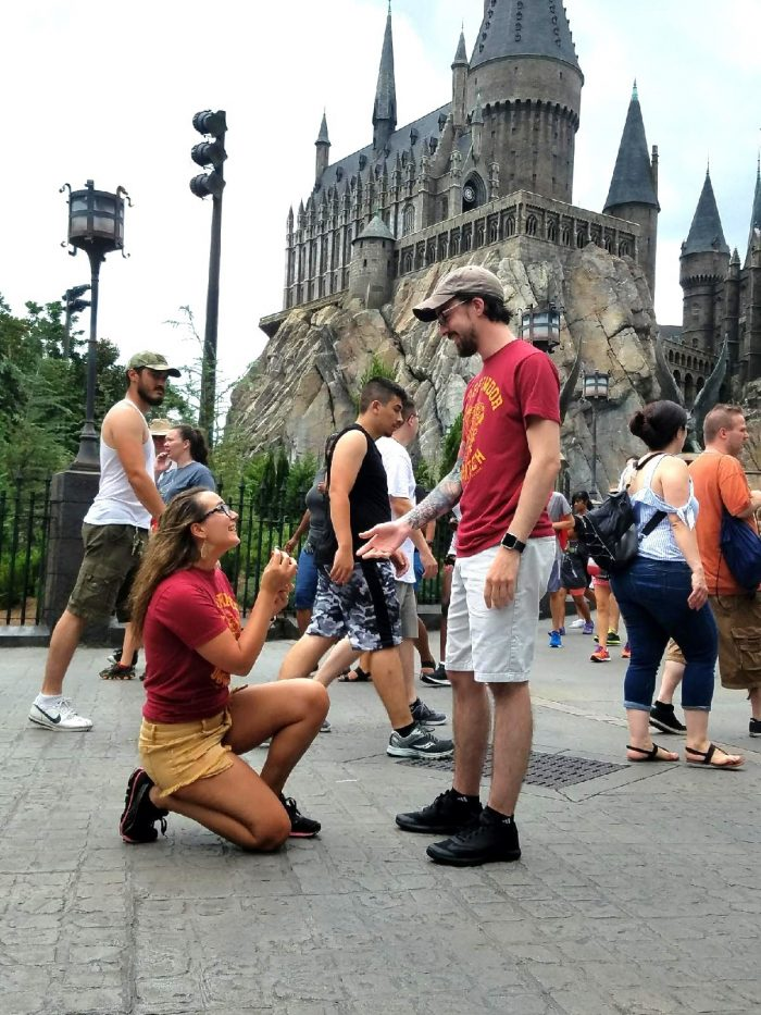 Where to Propose in Harry Potter World-Universal Studios