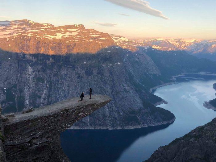 Marriage Proposal Ideas in Trolltunga, Norway