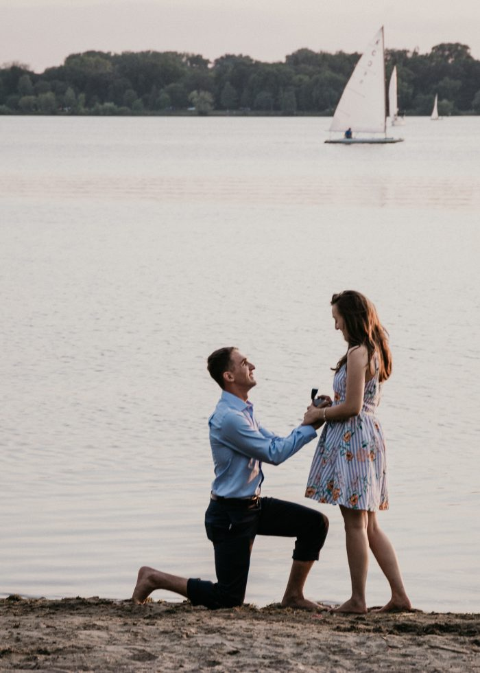 Wedding Proposal Ideas in Lake Calhoun, Minneapolis, MN