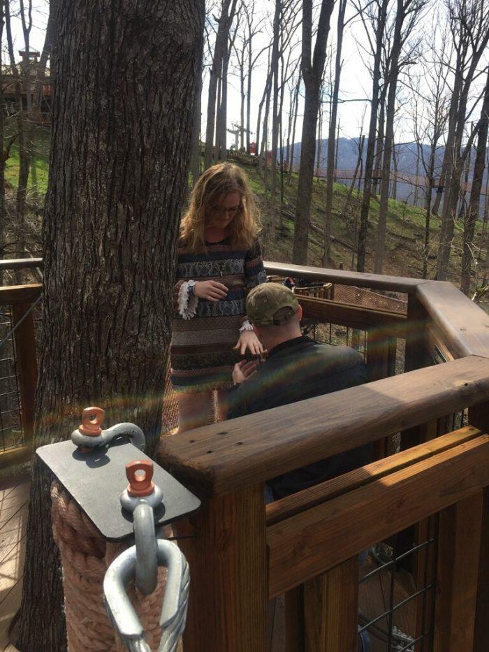 Keaton's Proposal in Gatlinburg TN