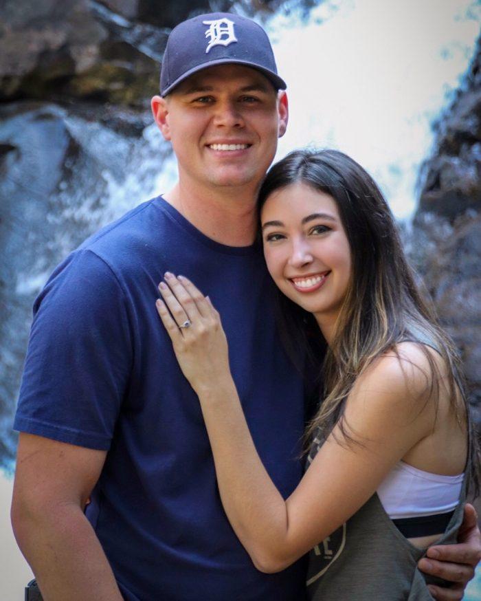 Jade and Matt's Engagement in Boulder River, MT
