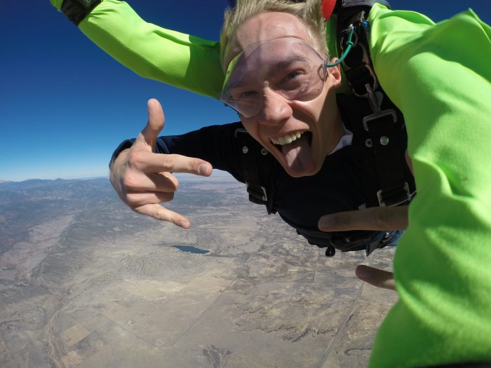 Where to Propose in Royal Gorge Skydiving