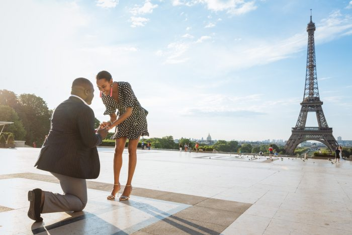 Tasia and Abiola's Engagement in Paris, France