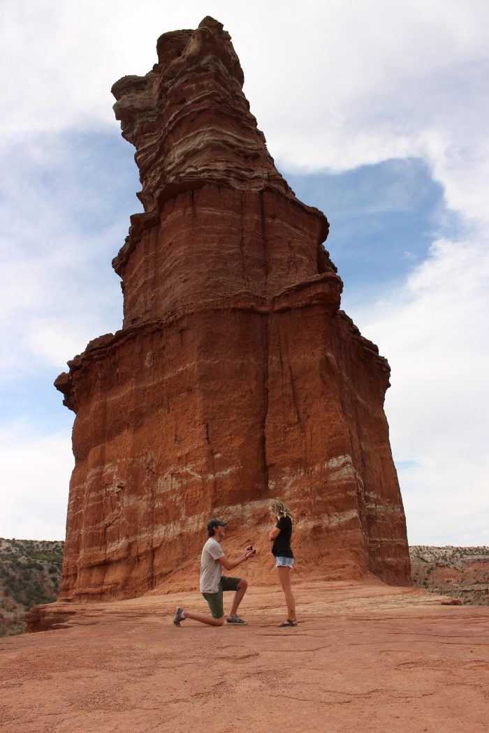 Engagement Proposal Ideas in Palo Duro Canyons- The Lighthouse Formation