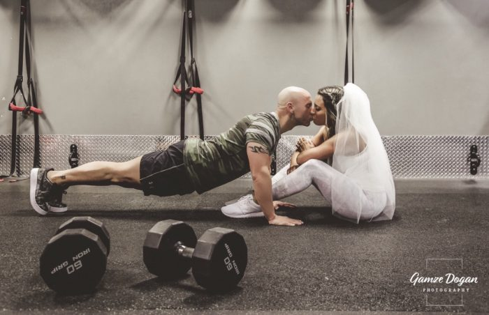 Michelle's Proposal in At the gym