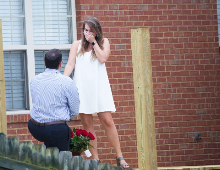 Wedding Proposal Ideas in The proposal took place at our home